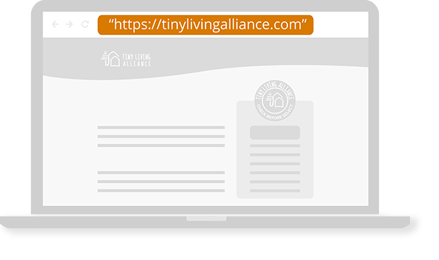 Check URL of Tiny Living Alliance