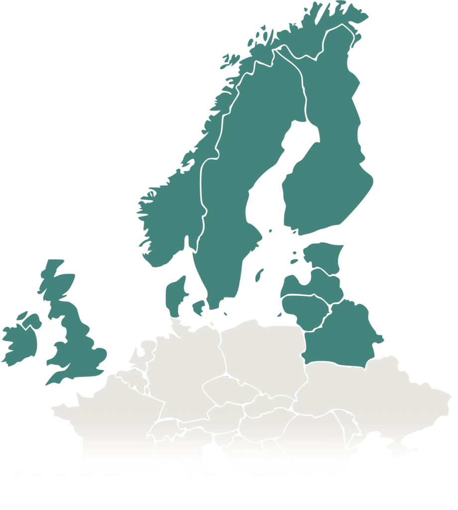 Map Europe North