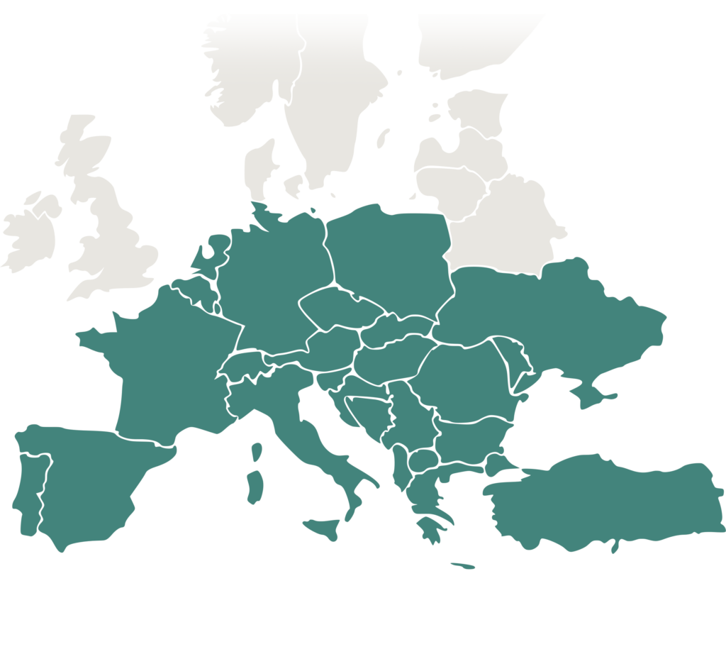 Map Europe South