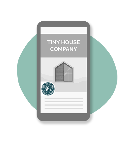 Illustration phone tiny house