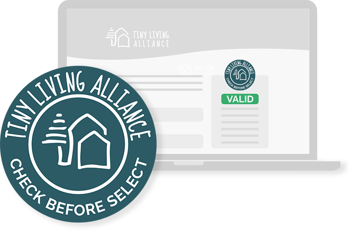 Trust badge Tiny Living Alliance Check before select